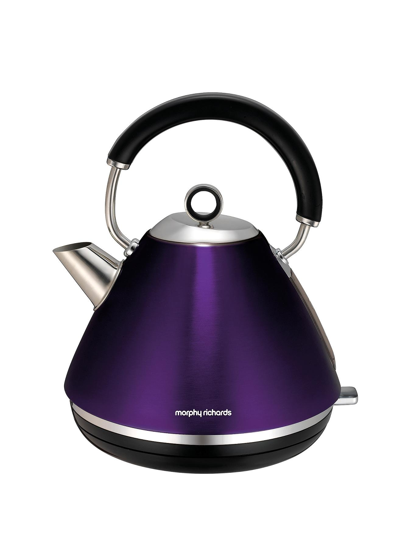 Morphy Richards Kettle Toaster Black Accents Rose Gold