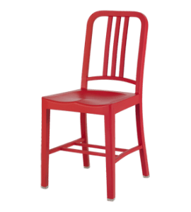 Emeco chair made from 111 recycled coca cola bottles