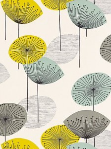 Dandelion clocks wallpaper and matching home accessories