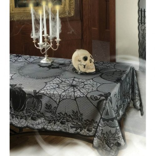Halloween Midnight Lace Gothic Tablecloth
