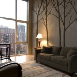 Winter trees wall art sticker