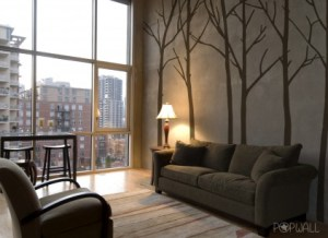 Fantastic home interior wall sticker featuring trees