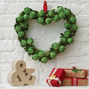 Modern contemporary sprout Christmas home wreath