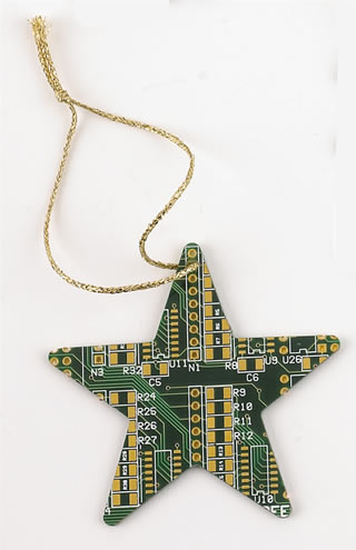 Recycled eco Christmas tree decorations