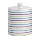 Blue stripe ceramic jar bathroom accessory