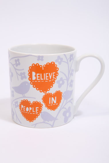 Rob Ryan Believe mug from Urban Outfitters