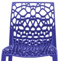 Blue coral designer recycled chair