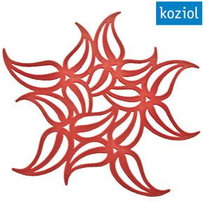 Koziol Flame red trivet