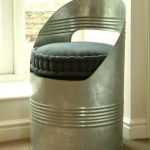 Unusual metal beer barrel seat