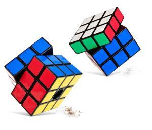 Funky Rubik cube design cruet condiment set