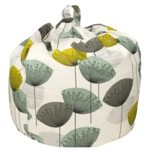 Designer Dandelion Clocks fabric bean bag seat