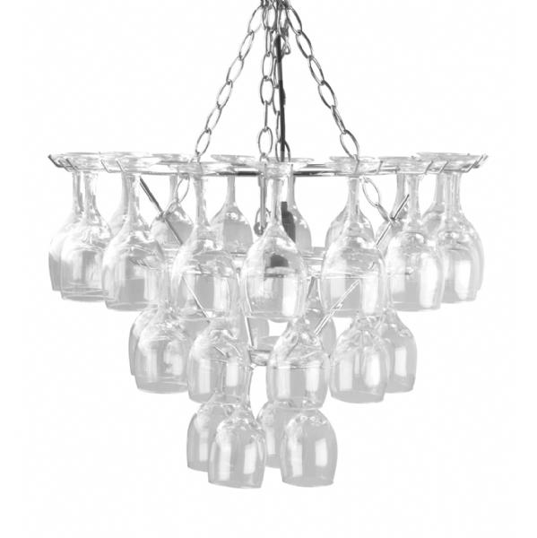 Leitmotiv vino wine glass chandelier