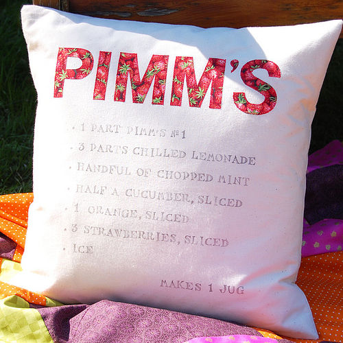Pimm's cocktail cushion from Door 77