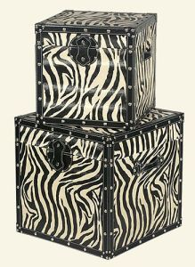 Zebra animal print trend home interiors