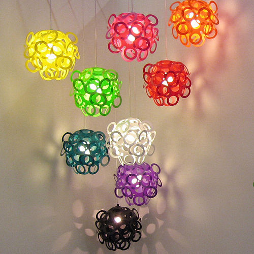 Fun and funky Loopy Lu lampshade
