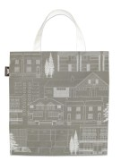 Town canvas bag and wallpaper by Mini Moderns
