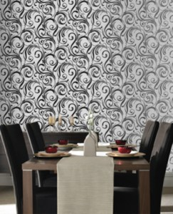 Contemporary designer wallpaper
