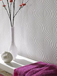 White textured affordable wallpaper