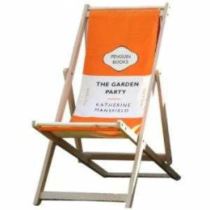 Classic Penguin literary book deckchair