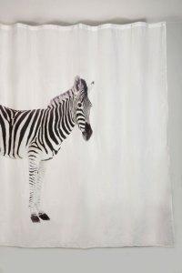 Black And White Contemporary Shower Curtain Zebra