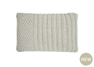 Contemporary knit cushion