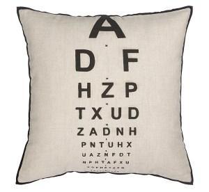 Eye test eye chart home accessories