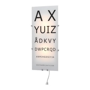 Funky home accessories eye chart test wall lamp