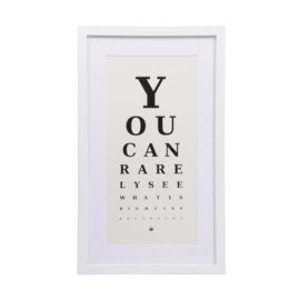 Optician eye chart print funky home accessories