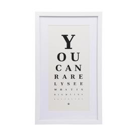 Optician eye chart print funky home accessories