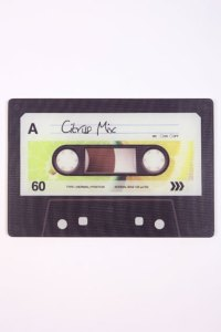 Eighties style mix tape kitchen chopping board