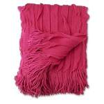 KAS magenta ripple throw