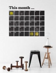 Funky chalkboard wall sticker ideas