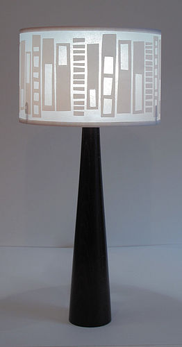 Block print lampshade by Helen Rawlinson