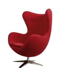 Red wool icon chair from Elle Interiors