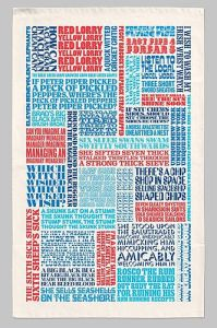 Fun and quirky tea towel design
