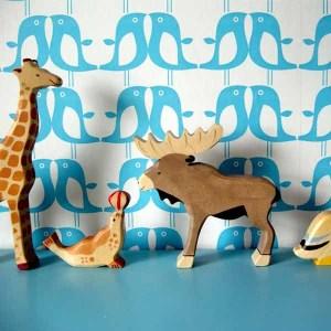 Cute children's penguin wallpaper