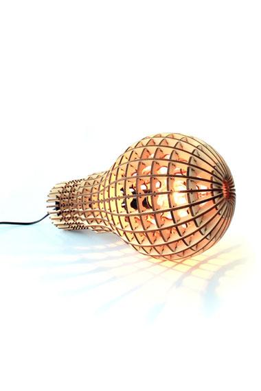 Suck UK wooden light bulb lamp