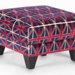 Jack Ottoman Union Jack stool