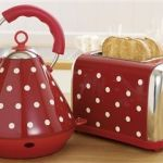 Next red and white spot kettle and toaster