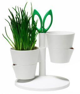 Designer herb garden storage stand