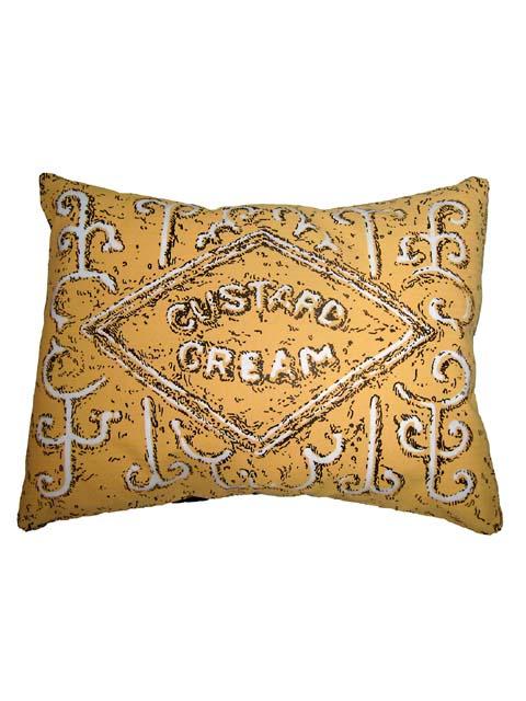 Simon Lewis Custard Cream biscuit cushion