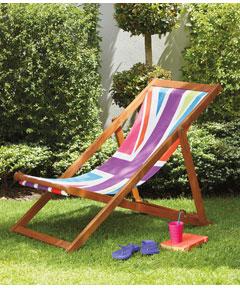 Best of British Union Jack deckchair and beanbag