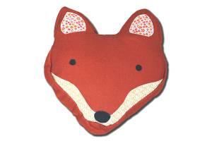 Contemporary fox head cushion