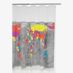 Fresh Design bathroom: Habitat Mappa shower curtain
