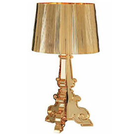 Contemporary gold table lamp