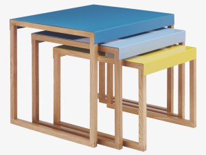 Contemporary modern occasional table set