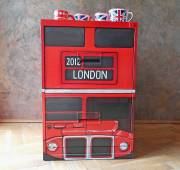 Red London bus quirky cabinet