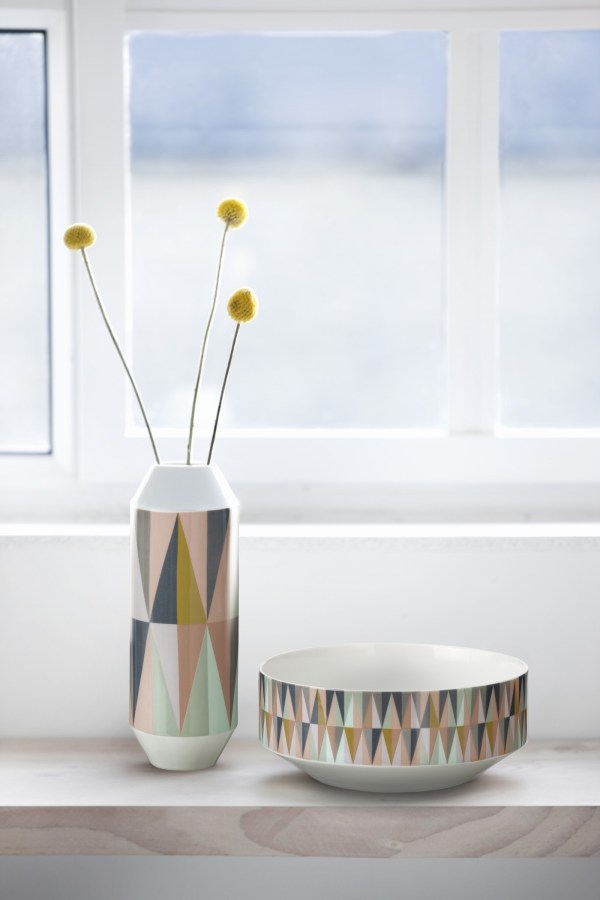 Ferm Living Spear design vase and bowl