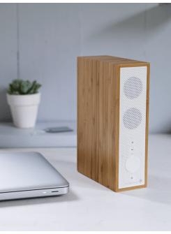 Wireless slimline bamboo bluetooth speaker