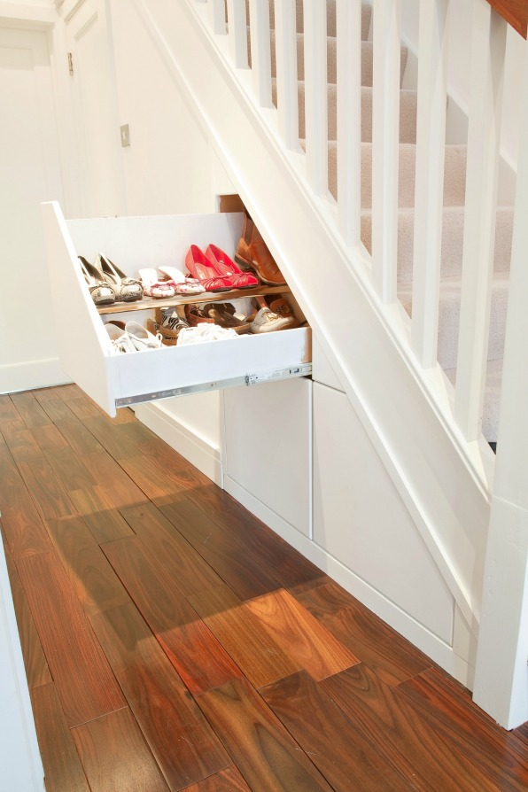 Clever closet under stairs storage solution fresh design for Clever hidden storage